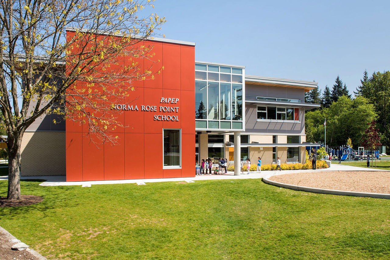 Educational Architecture for Norma Rose Point School, Vancouver BC, Canada by Prakash Nair